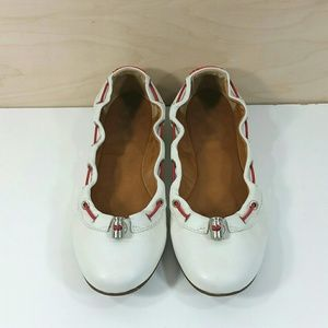 Hunter Dominica Toggle Ballet Flats White Size 7.5